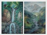 Cascade And Waterfalls - 2 Canvas Set  36 x 48 inches