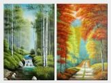 Spring and Autumn - 2 Canvas Set  36 x 48 inches