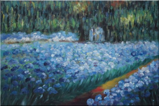 The Artist's Garden at Giverny, Monet Reproduction Oil Painting France Impressionism 24 x 36 Inches