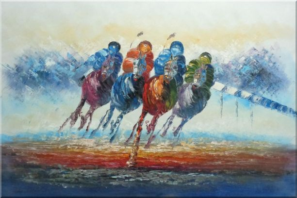 Spur on Galloping Horses in Racing - 2 Canvas Set 2-canvas-set,portraits,animal,horse, horse-racing  modern  24 x 72 inches