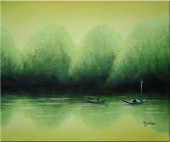 Lake Impression Oil Painting Landscape River Impressionism 20 x 24 Inches