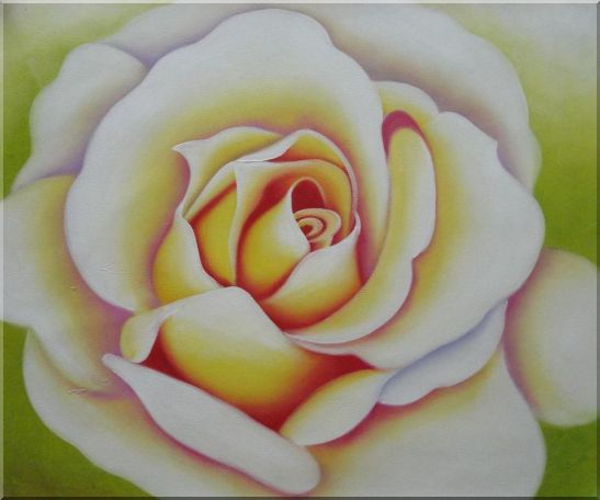 Pink Rose Bud Oil Painting Flower Naturalism 20 x 24 Inches