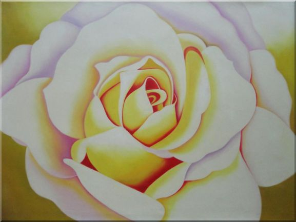 Pink Rose Bud Oil Painting Flower Naturalism 36 x 48 Inches