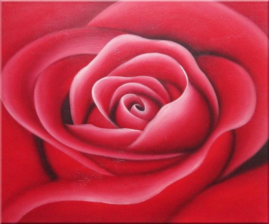 The Beauty of Red Rose Bud Oil Painting Flower Decorative 20 x 24 Inches