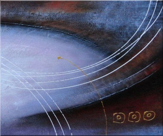 White Crossing Circles Abstract Oil painting - 2 Canvas Set 2-canvas-set,nonobjective decorative  20 x 48 inches