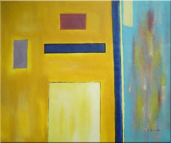 Rectangles in Color Field Oil Painting Nonobjective Modern 20 x 24 Inches