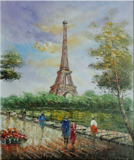 Eiffel Towers In Different Background - 2 Canvas Set 2-canvas-set,cityscape, france impressionism  24 x 40 inches
