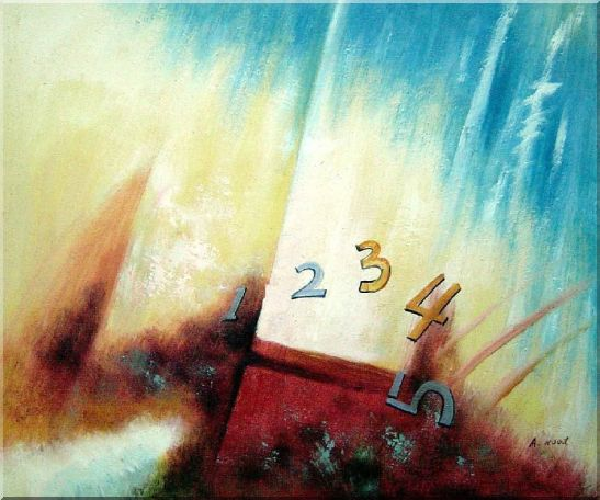 Numbers Oil Painting Nonobjective Modern 20 x 24 Inches