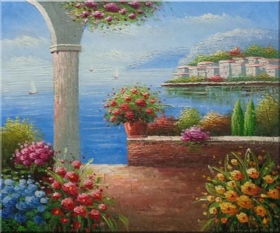 Paradise By Mediterranean Sea Oil Painting Naturalism 20 x 24 Inches
