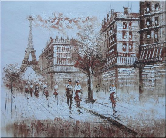 Remembering Paris Oil Painting Cityscape France Impressionism 20 x 24 Inches