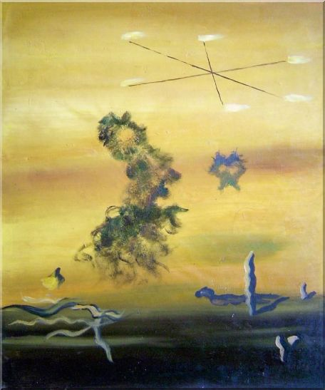 Cryptic Sky Oil Painting Nonobjective Modern 24 x 20 Inches