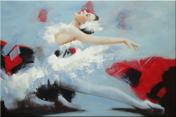 Swan Lake Ballet Dancer Oil Painting Portraits Woman Classic 24 x 36 Inches