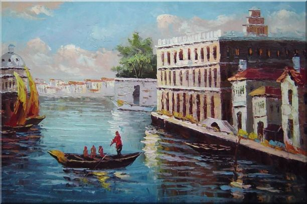 Romance of Venice Oil Painting Italy Naturalism 24 x 36 Inches