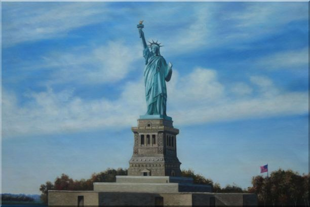Statue of Liberty, New York Oil Painting Portraits Celebrity America Naturalism 24 x 36 Inches
