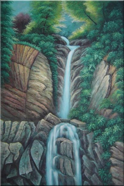 Endless Song Oil Painting Landscape Waterfall Classic 36 x 24 Inches