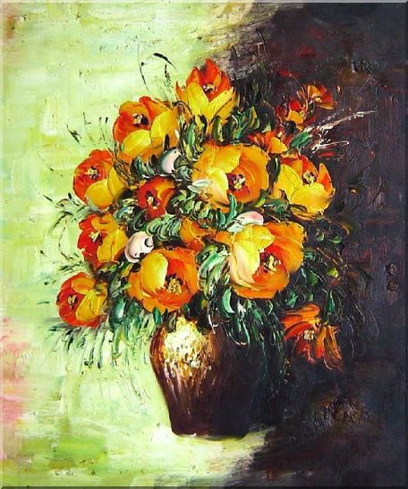 Blooming Roses Bouquet Oil Painting Flower Still Life Impressionism 24 x 20 Inches