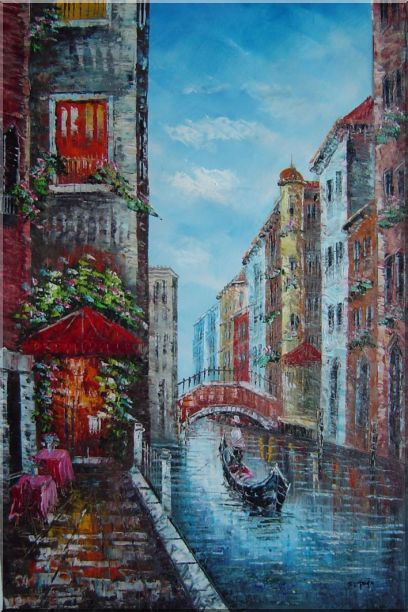 Canals in Venice - 2 Canvas Set 2-canvas-set,venice,italy naturalism  36 x 48 inches