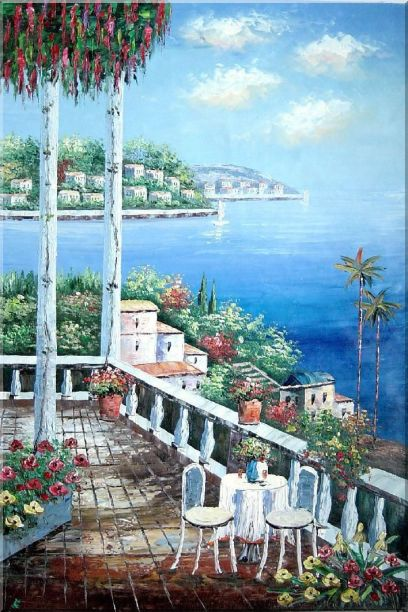 Mediterranean Memory - 2 Canvas Set 2-canvas-set,mediterranean naturalism  36 x 48 inches