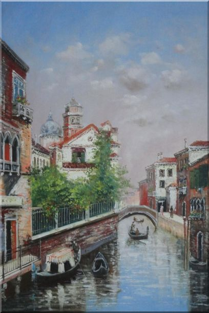 My Impression Of Venice Oil Painting Italy Impressionism 36 x 24 Inches