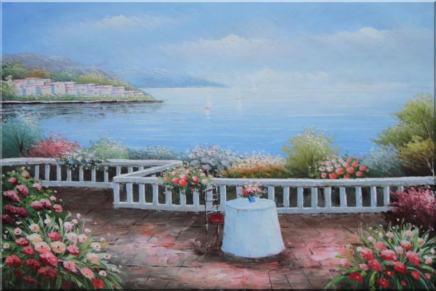 Summer Retreat at Mediterranean Oil Painting Naturalism 24 x 36 Inches