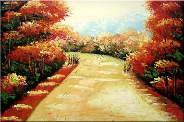 Autumn Walk Oil Painting Landscape Tree Impressionism 24 x 36 Inches