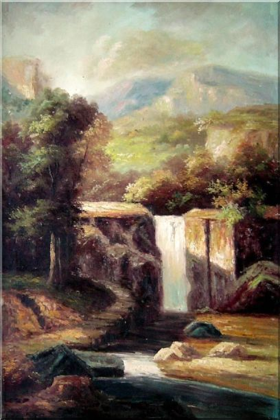 Little Spillway Oil Painting Landscape River Classic 36 x 24 Inches