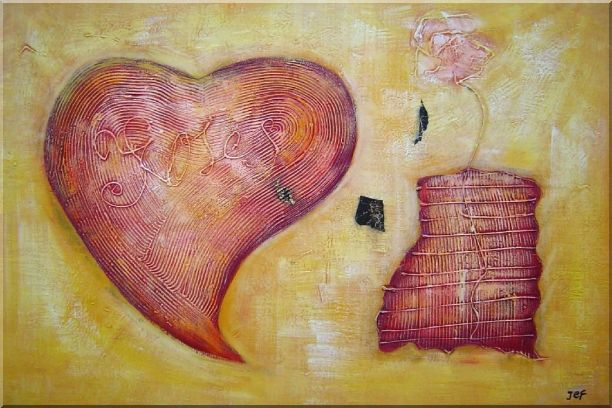 Love Brings Happy and Joys - 2 Canvas Set 2-canvas-set,nonobjective decorative  24 x 72 inches