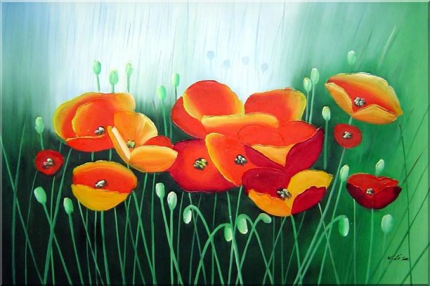Meadow Dance Oil Painting Flower Modern 24 x 36 Inches