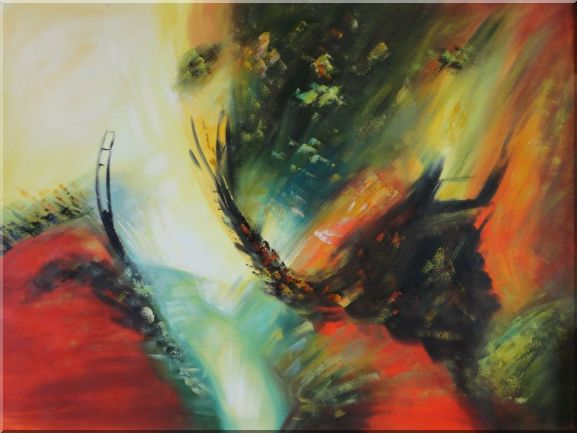 Rapid Rhythm Oil Painting Nonobjective Decorative 36 x 48 Inches