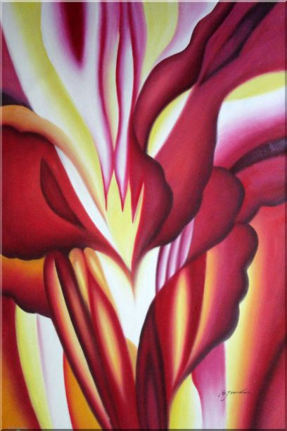 Red Canna, Georgia O'Keeffe's Reproduction Oil Painting Flower Modern 36 x 24 Inches