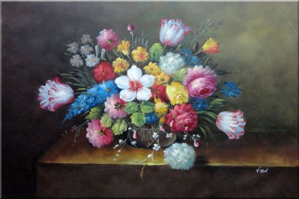 Still Life of Flowers Oil Painting Bouquet Classic 24 x 36 Inches