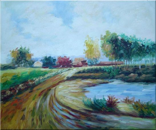 Path to the Village Oil Painting Landscape Impressionism 20 x 24 Inches
