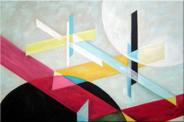 Suprematist Composition Oil Painting Nonobjective Modern 24 x 36 Inches