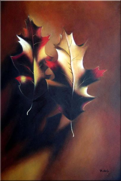 Leaf, Screw and Wood - 2 Canvas Set 2-canvas-set,still-life naturalism  36 x 48 inches