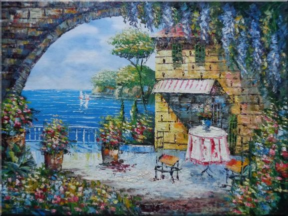 Peaceful Moment Oil Painting Mediterranean Naturalism 36 x 48 Inches