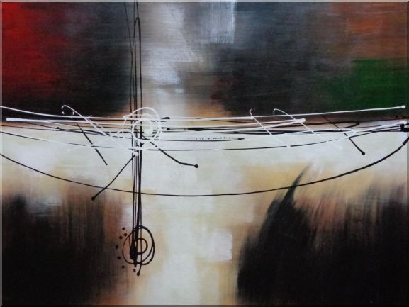 Harmonious Rhythm Oil Painting Nonobjective Decorative 36 x 48 Inches