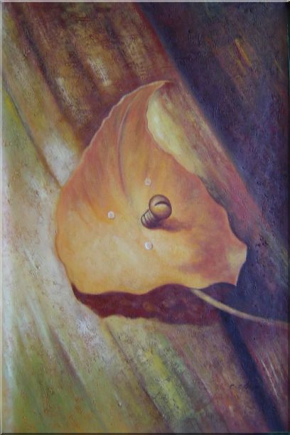 Leaf, Screw and Wood Oil Painting Still Life Naturalism 36 x 24 Inches