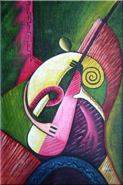 Playing Musical Instrument Oil Painting Portraits Musician Modern 36 x 24 Inches