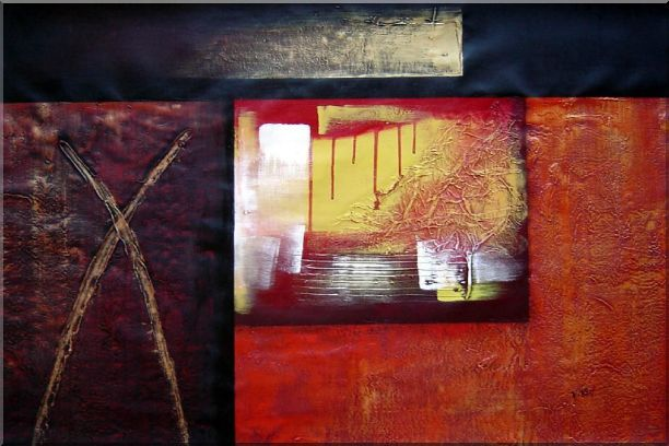 Combination of Abstract Oil Painting Nonobjective Modern 24 x 36 Inches