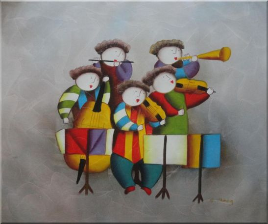 Musical Band Oil Painting Portraits Musician Modern 20 x 24 Inches