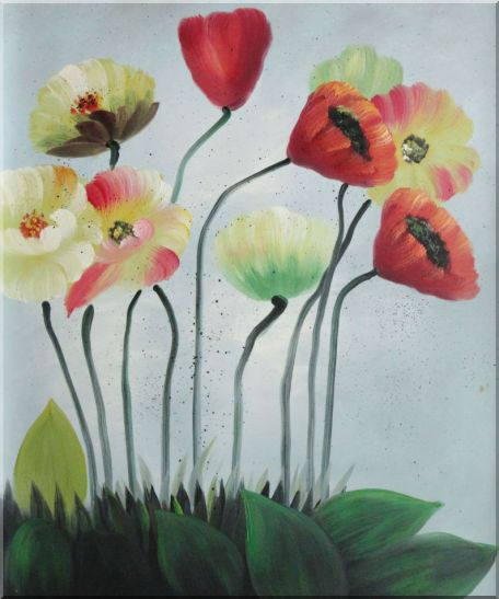 Lovely Flowers in Various Colors Oil Painting Decorative 24 x 20 Inches