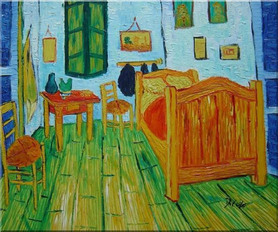 Vincent's Bedroom in Arles, Van Gogh Oil Painting Cityscape France Post Impressionism 20 x 24 Inches