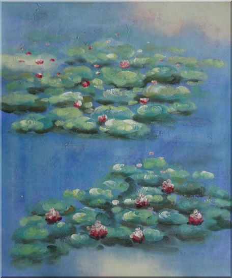 Summer Waterlily in A Pond, Monet Reproduction Oil Painting Landscape River Impressionism 24 x 20 Inches