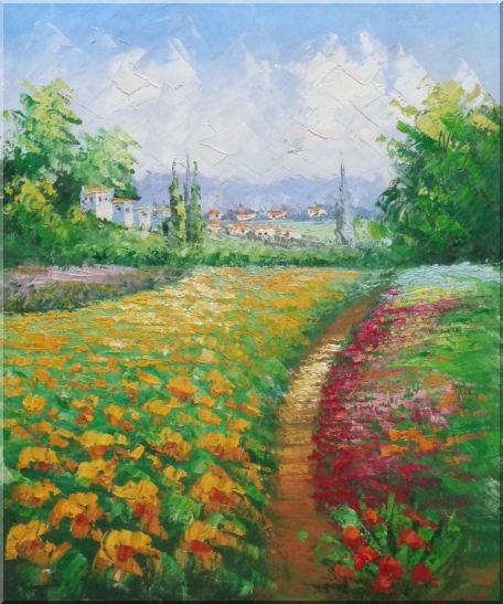 Rural Flower Field - 2 Canvas Set 2-canvas-set,landscape, field impressionism  24 x 40 inches