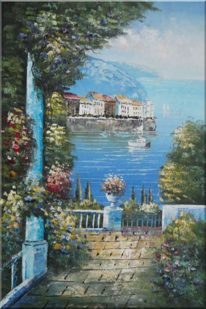 Mediterranean Dreams Oil Painting Naturalism 36 x 24 Inches