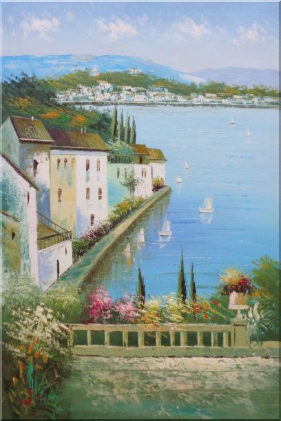 Mediterranean Memory Oil Painting Naturalism 36 x 24 Inches