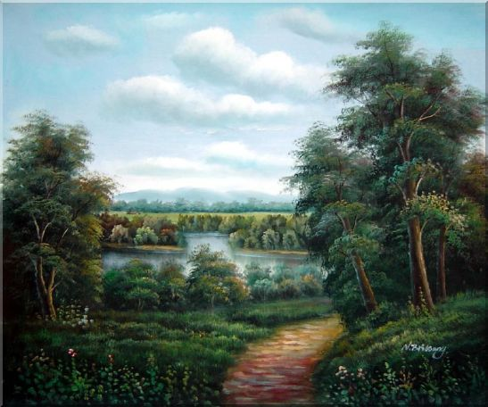 Trail of Serenity Oil Painting Landscape River Classic 20 x 24 Inches