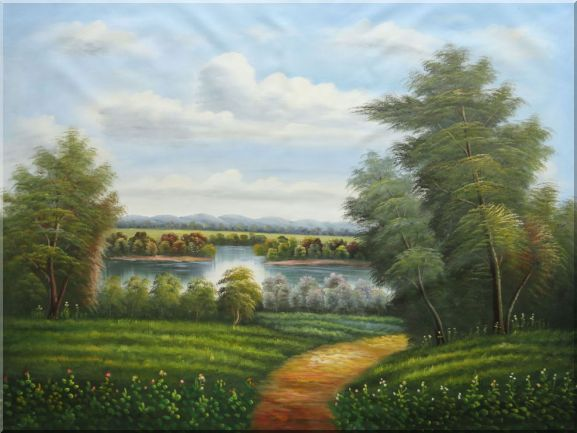 Trail of Serenity Oil Painting Landscape River Classic 36 x 48 Inches