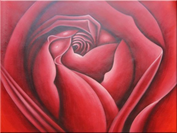 The Beauty of Life Oil Painting Flower Rose Decorative 36 x 48 Inches