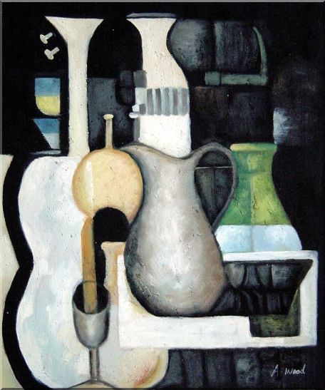 Accords, Instruments Oil Painting Still Life Modern 24 x 20 Inches